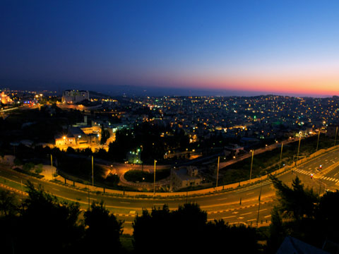 Sunset over the bowl. View from the Nazareth Plaza Hotel.