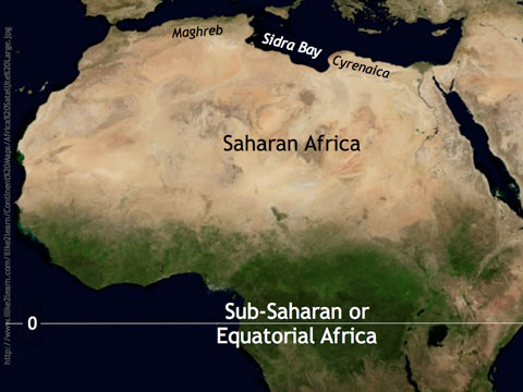 The North Coast of Africa.