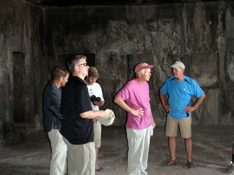 "Our intrepid crew inside the ""Caves of Khorkhor."""