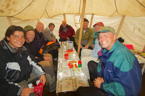 Supper in Low Camp.
