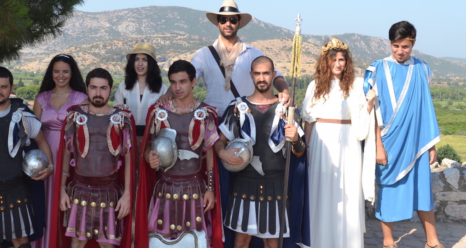 Trying to blend in while traveling abroad can be difficult. This is especially true in Ephesus, where people are short and dress funny.