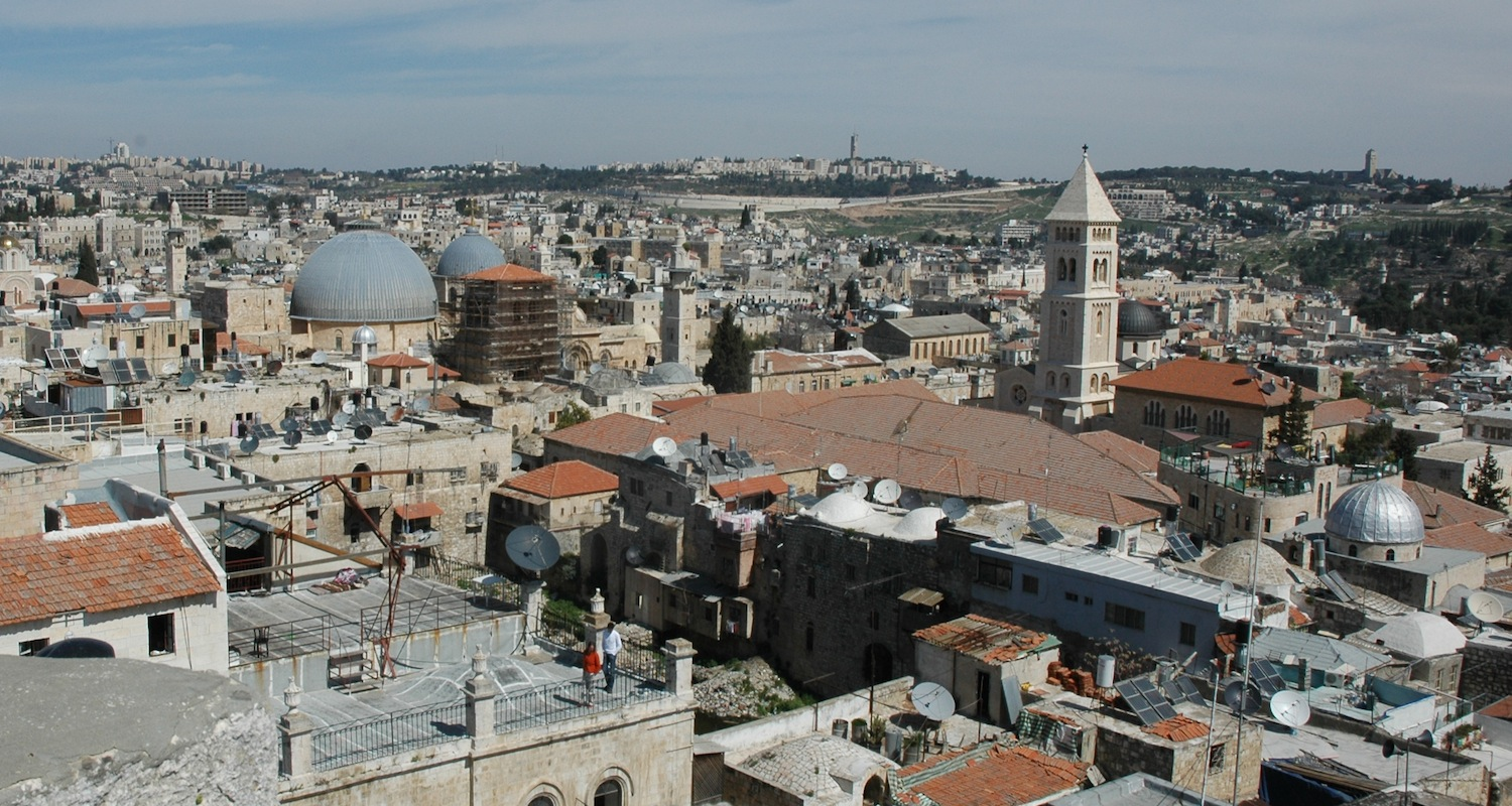View from the tower to the Old City.