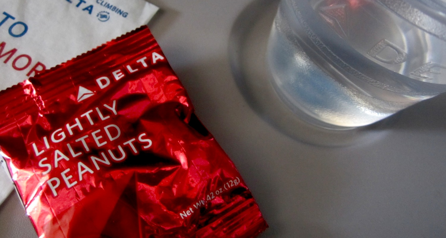 Be careful when relying upon airline peanuts as a subsistence strategy. Image from  here .