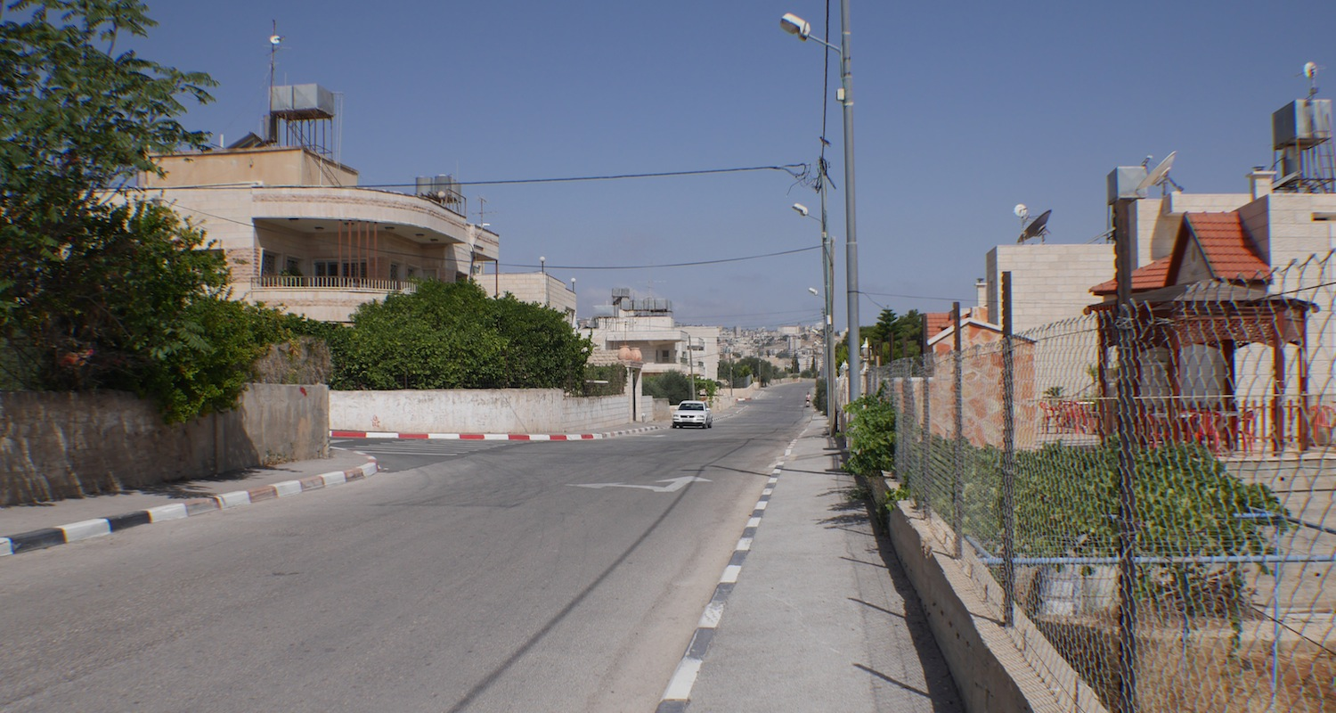 The streets of Bayt Sahour are quiet in the morning hours.