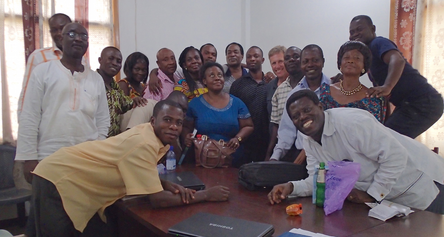 James and his Survey of OT Prophetic Literature class. James is at the front on the far right.