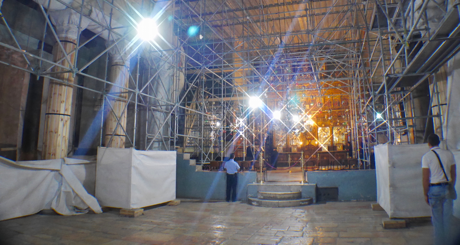The Bethlehem nave is swaddled in cloths. It is an ambitious facelift.