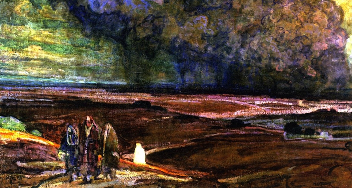 "Henry Ossawa Tanner, ""Sodom and Gomorrah"" (1920). Detail from  here ."