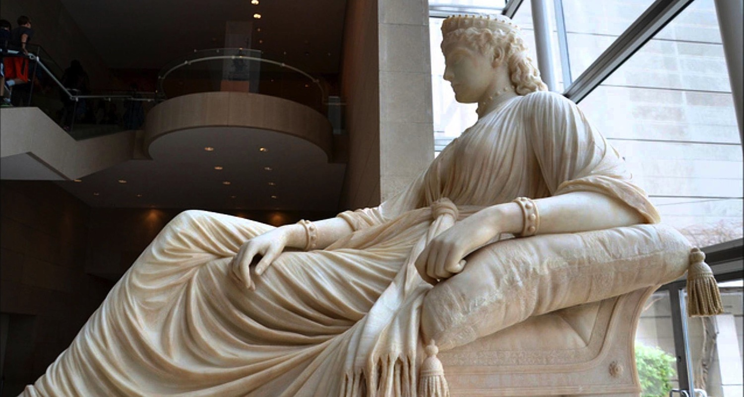 Semiramis by William Story (1872). This larger-than-life statue reclines in the Dallas Museum of Art. This image was found  here . Accessed on Oct 31, 2015.