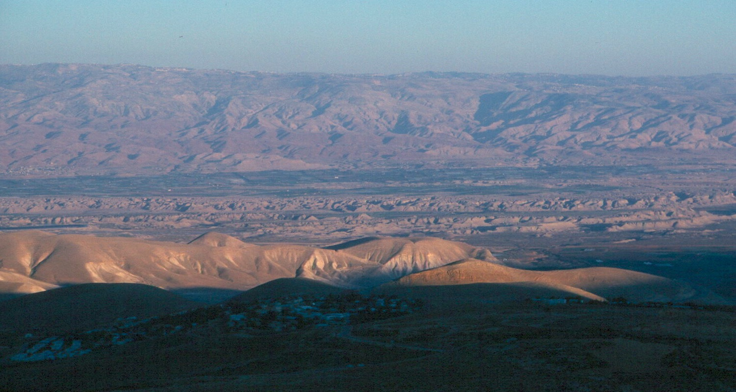 View east to the Lower Jordan Valley.