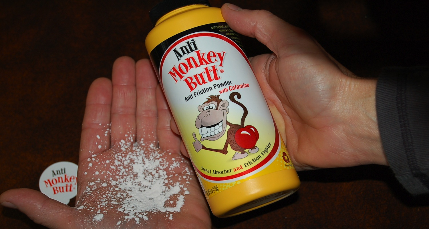 One more commercial. Anti-Monkey Butt powder is the answer to many problems! Bad name. Great product. Image from  here .