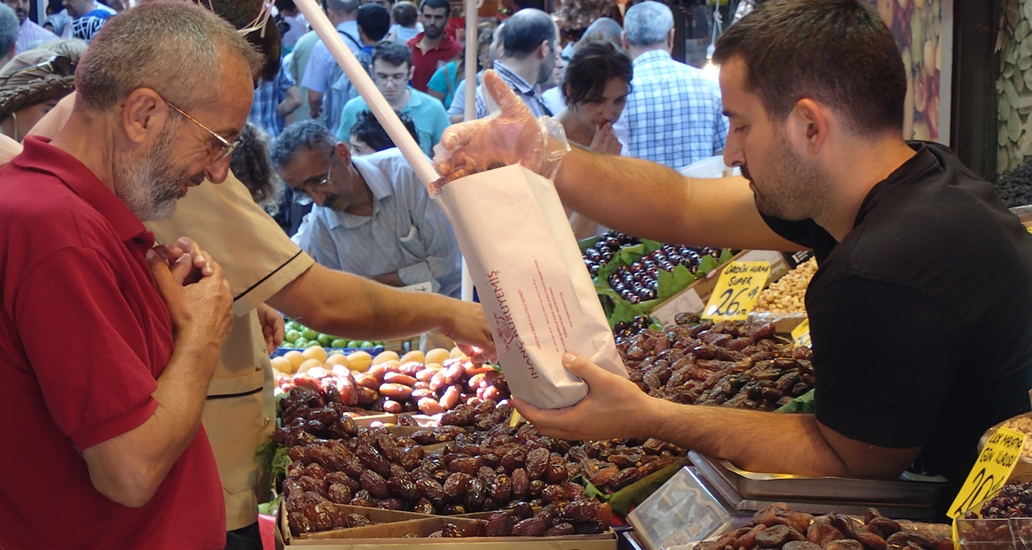 Remember that shopping is a vulnerable moment. It is fun though, especially in Istanbul's Spice Market.