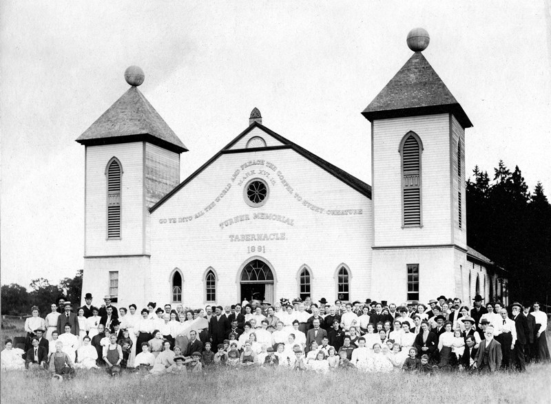 A picturesque moment in the early life of the Turner Memorial Tabernacle.Image from  here.