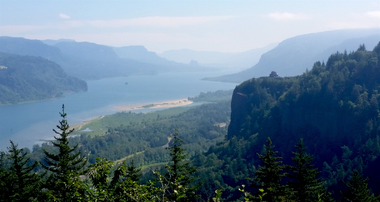 The Columbia River (and gorge) viewed from Chanticleer Point.