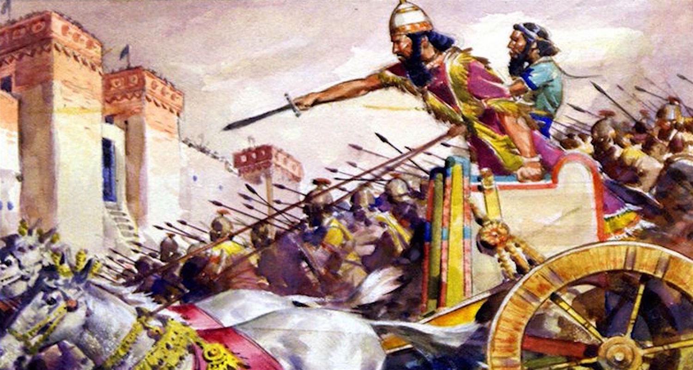 God himself besieges Jerusalem. Image from  here.