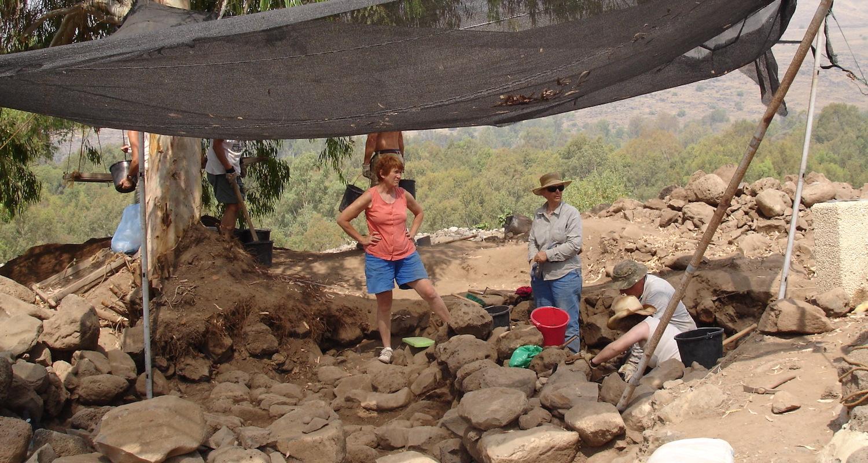 In 2006 we encountered excavators in the field at Bethsaida, Israel.