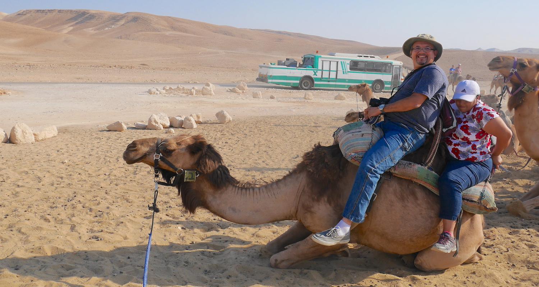 Daniel and Claudia Llamas attempt a dismount.