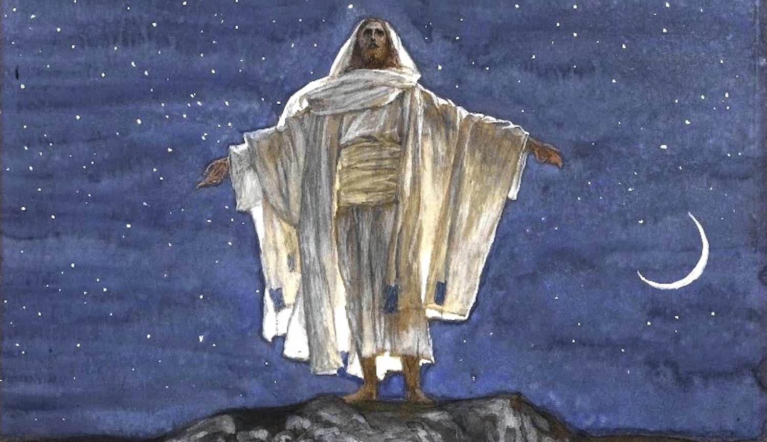 "Detail from James Tissot, ""Jesus Goes Up Alone onto a Mountain to Pray"" (1886−94). Brooklyn Museum. See image    here   ."