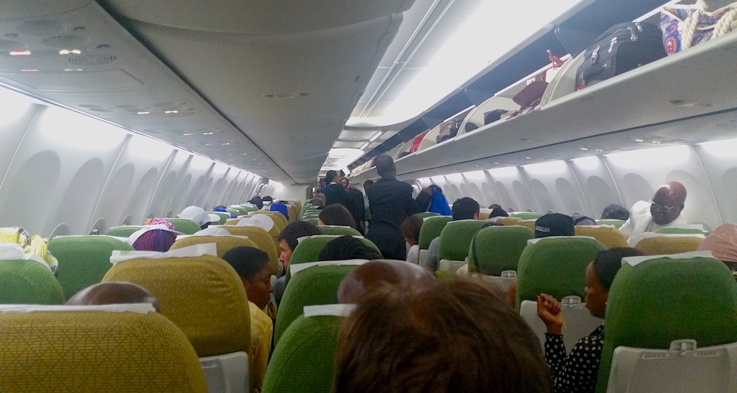 While the airport in Addis Ababa was memorable for all the wrong reasons, I found my flights on Ethiopian Air to/from there to be friendly, clean, and comfortable.