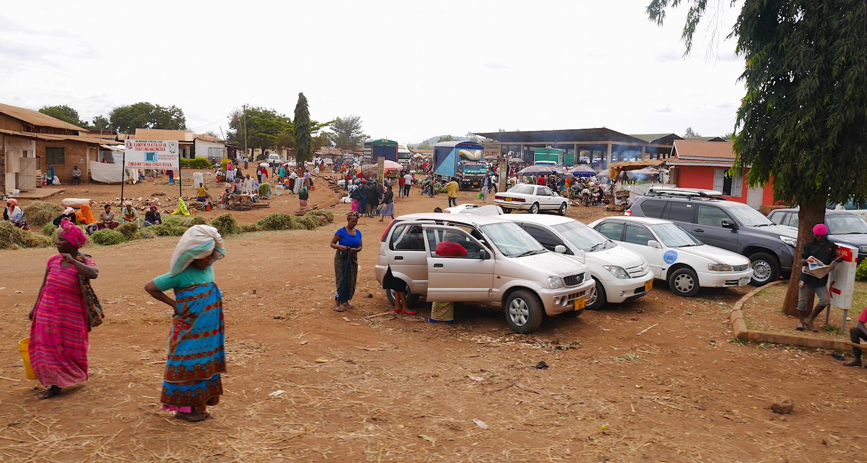 Street market outside Moshi.