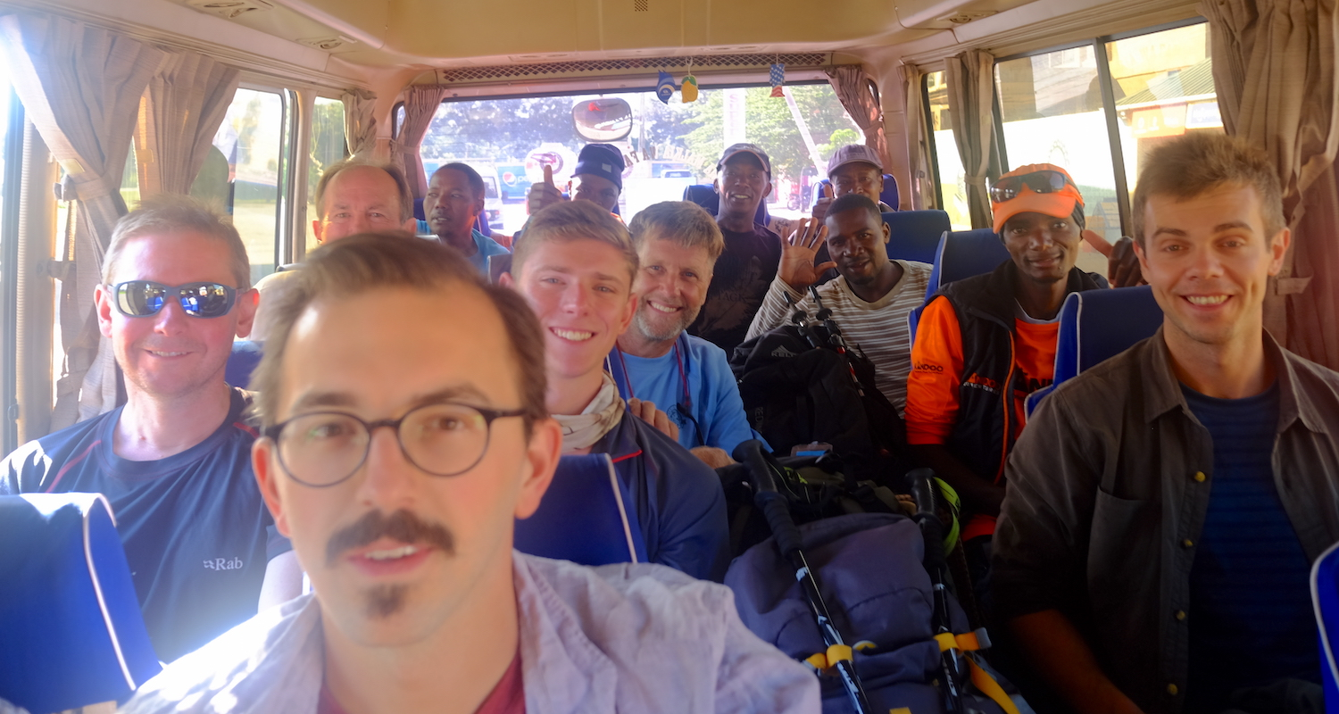 We were packed in the bus like sardines for our ride to the mountain. Photo by teammember Nico Roger.