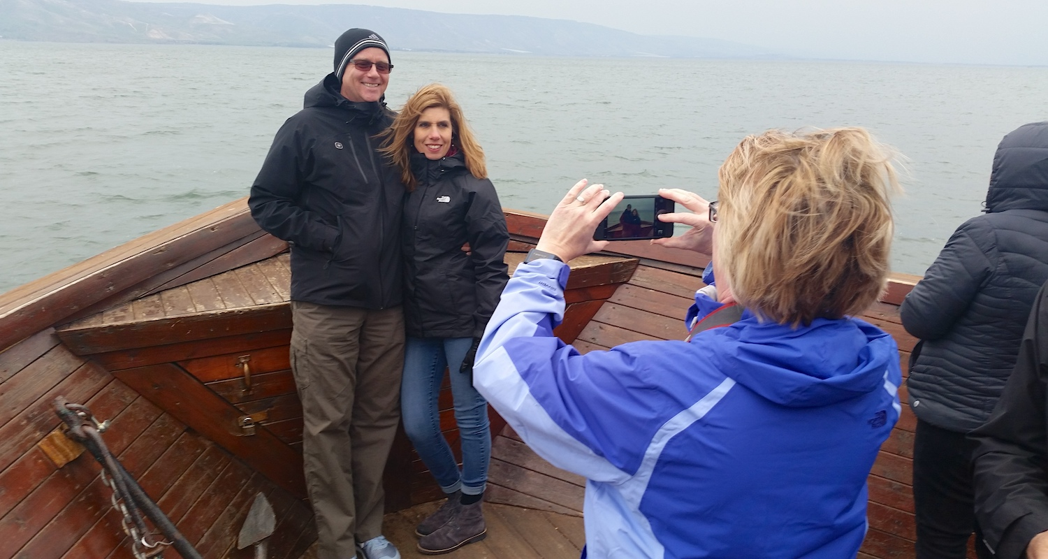 A picture of picture on the Sea of Galilee. From our January 2017 Fam Trip.