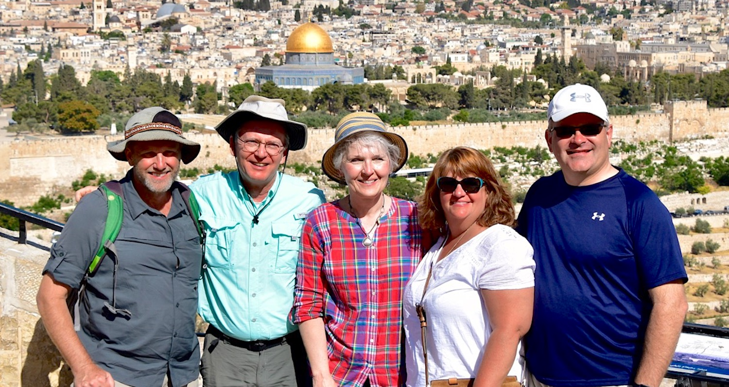 Mark and DeeDee Kitts (right) traveled to the Holy Land with Jon and Tammie Weatherly (center) this year.