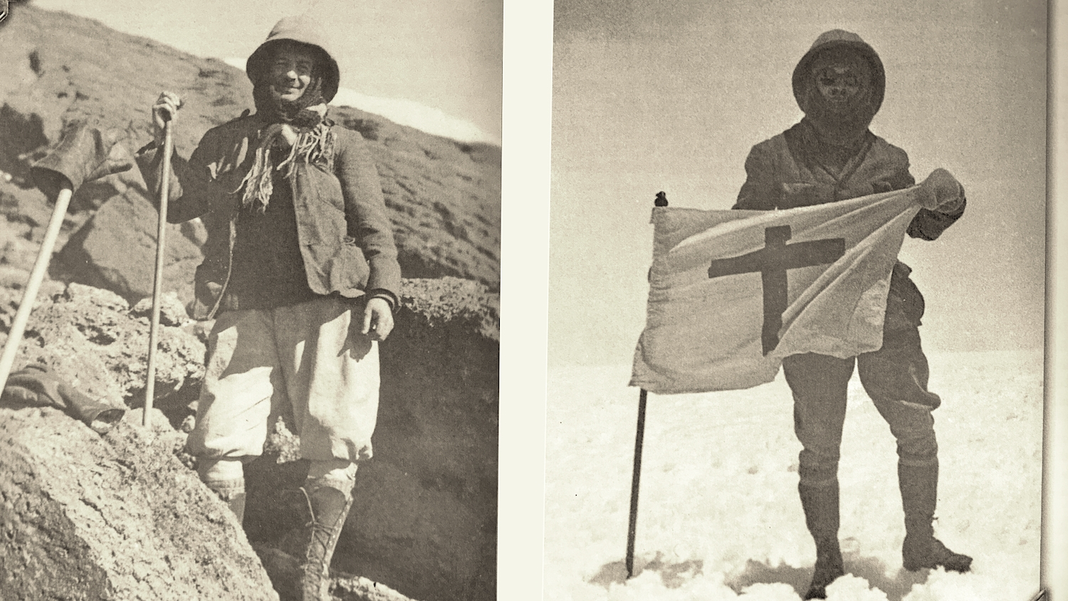 According to the register, Reusch was the 7th European to climb Kilimanjaro's Kibo Peak. He returned two more times in 1926. Rather than plant a national flag, he preferred a Christian symbol.