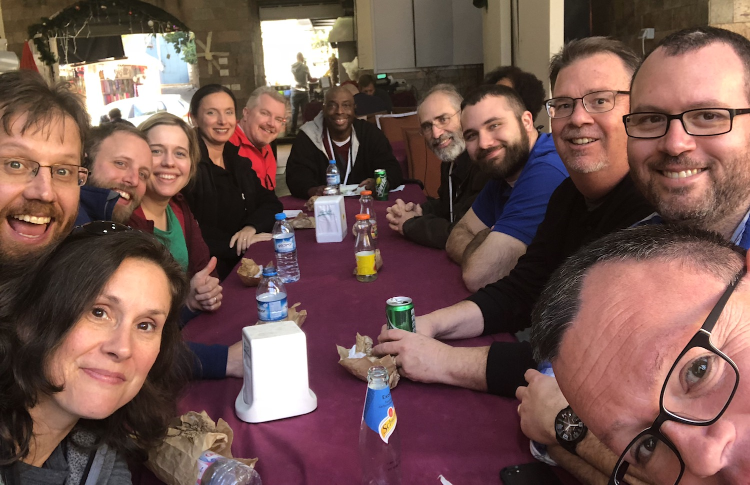 Resilient! Enjoying the finest shawarmas and baklava in Nazareth! Photo by Bible Land Explorer Jay Hess.