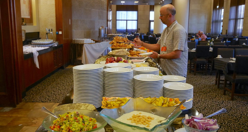 The most dangerous aspect of group travel may be the buffet line!