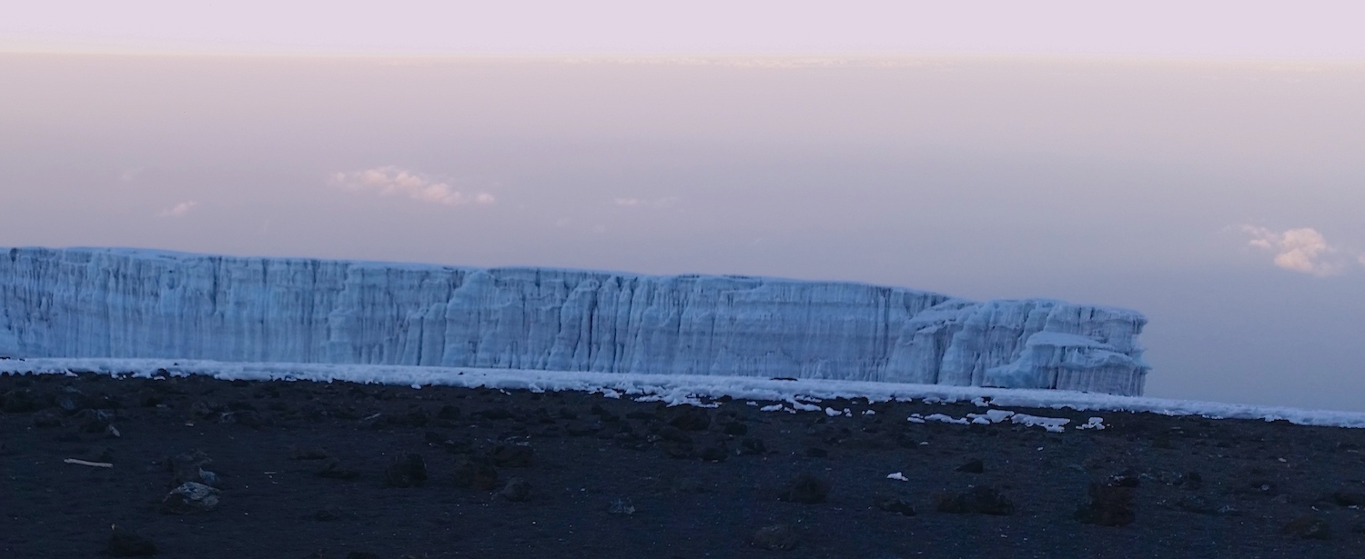 The broken edge of the Southern Ice Field rose up like a wall. The scale in this photograph is deceptive.
