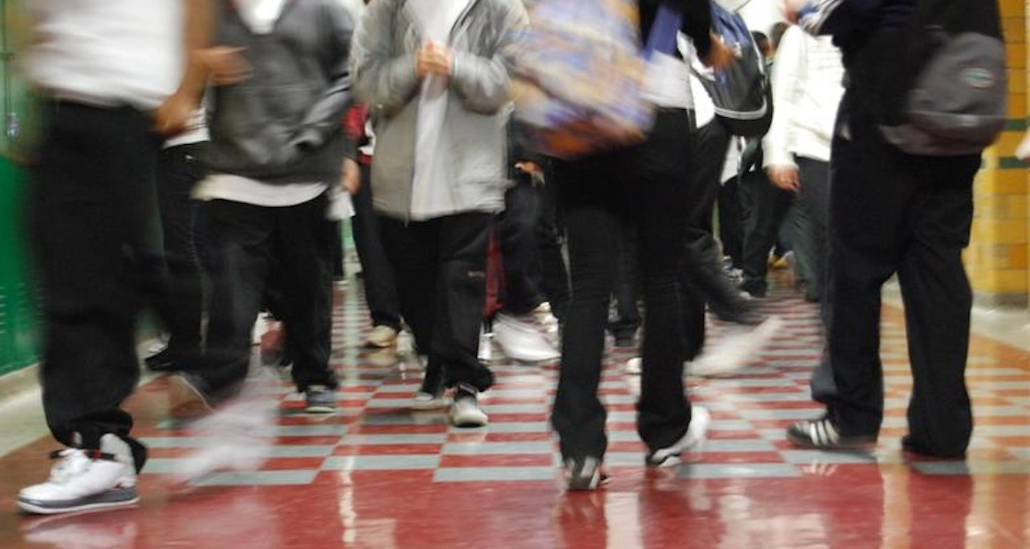 """Remember the classic """"heel trip"""" in the school hallway? Image from  here (Accessed 7/10/2018)."""