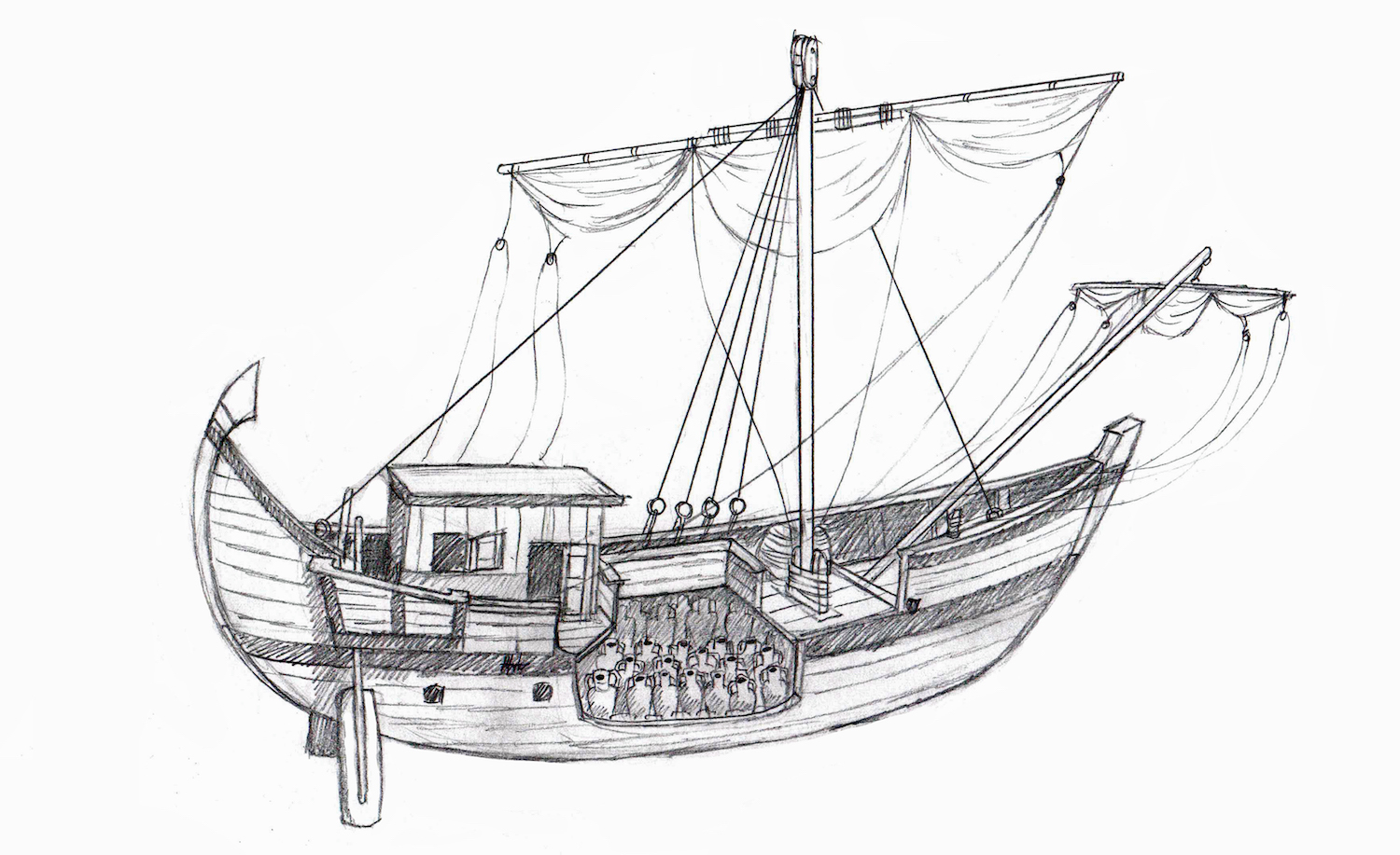 Roman trade ship. Image from  here  (accessed 7/19/2018).