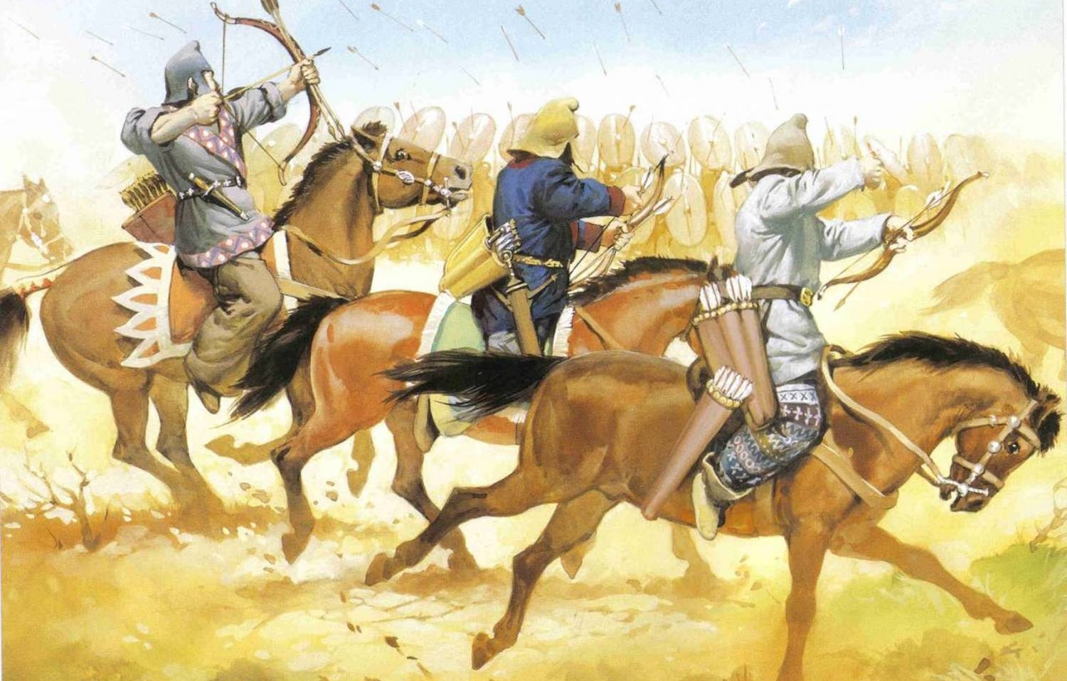 Despite the superior strength and numbers of the Roman army, the Parthians won the day in 53 BC. Their knowledge of the ground and the ability to move quickly gave the Parthians the victory at the battle of Carrhae. Image from    here   .
