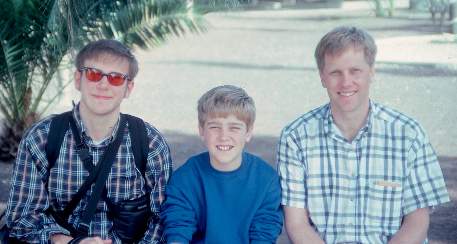 Jody, Tanner, and yours truly from a compass-directed Israel experience many years ago.