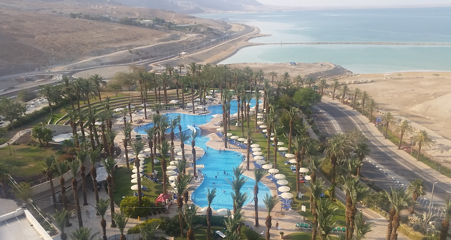 We didn't suffer too much at our hotel beside the Dead Sea.
