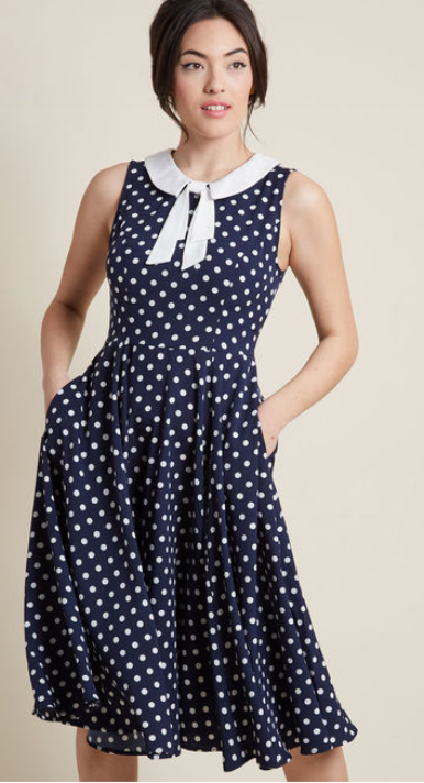 ModCloth Proper Pick A-Line Midi Dress  $79.00