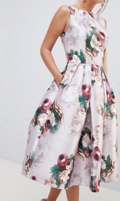 Asos Chi Chi London Midi Dress in Floral Print  $95.00