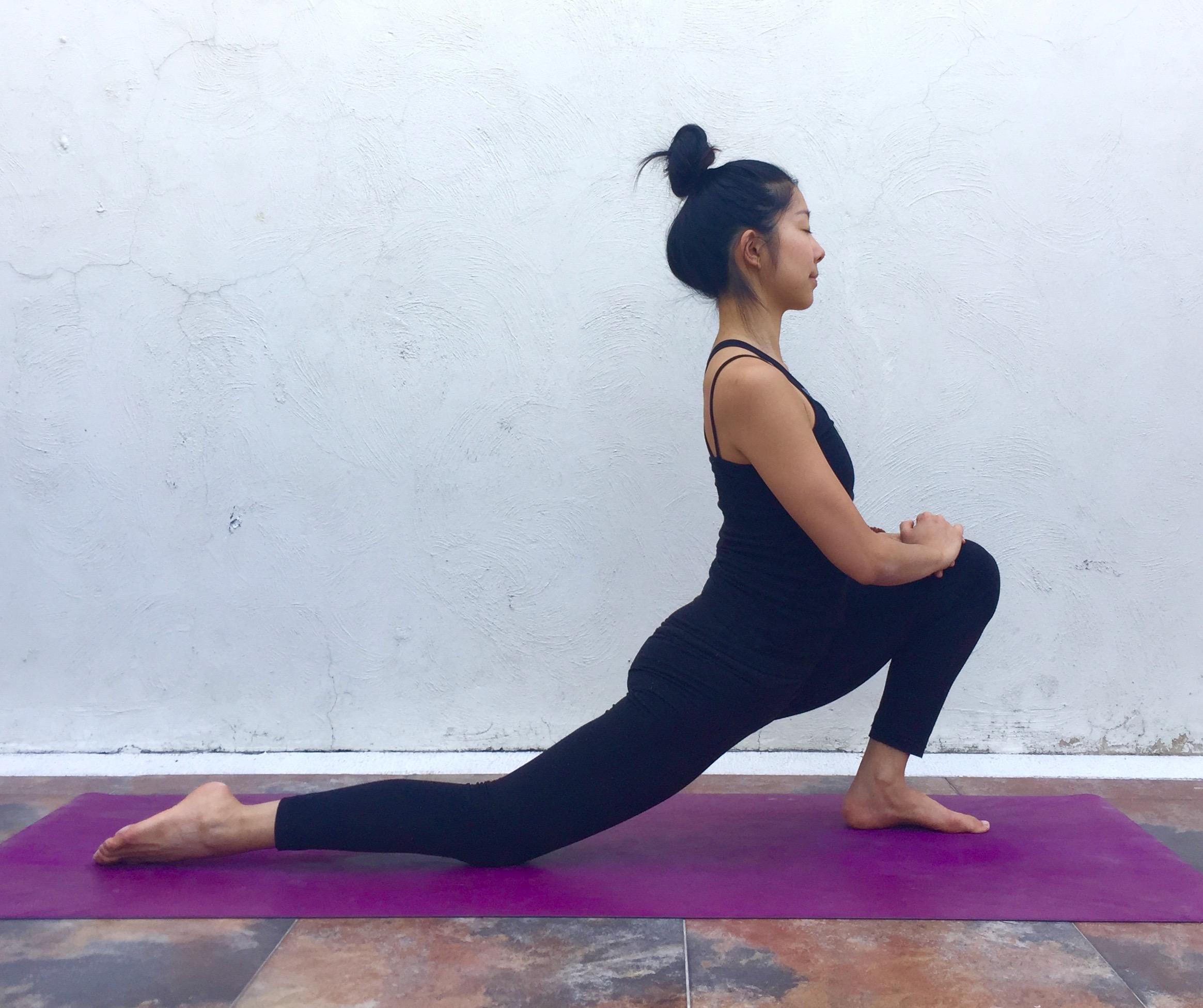 Dragon Pose- Annie Au Yoga