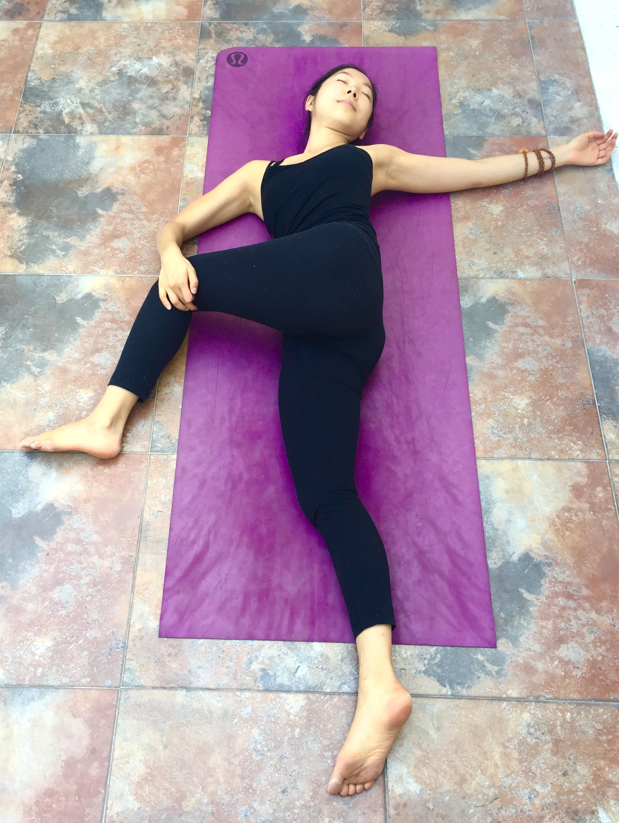 Reclining Twist-Annie Au Yin Yoga
