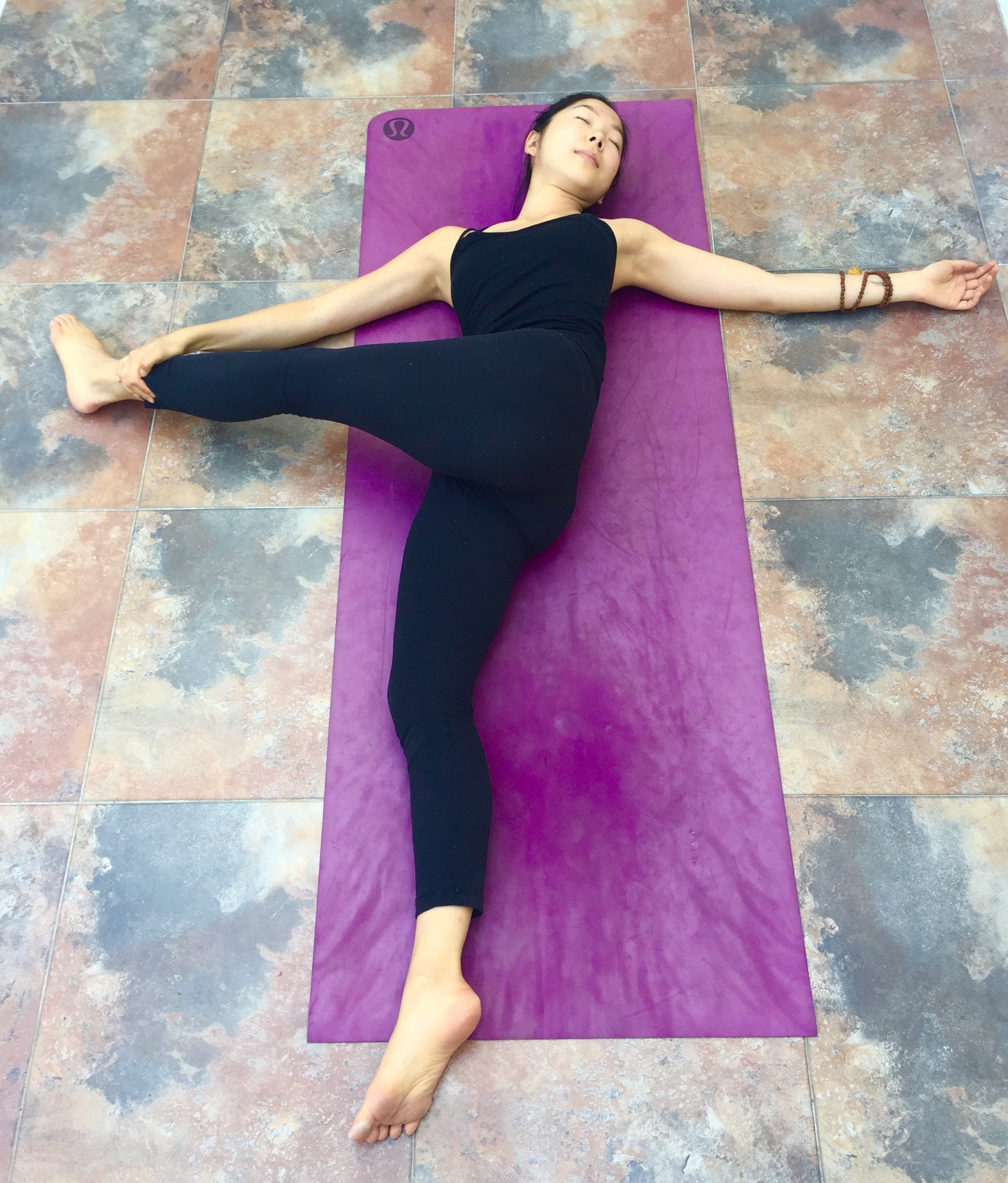Reclining Twist variation- Annie Au Yin Yoga