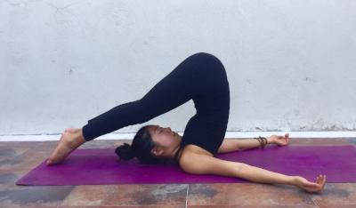 Annie Au Yin Yoga Snail Pose