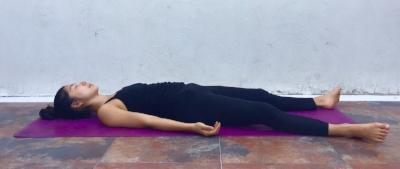 Annie Au Yoga Savasana