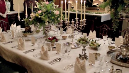 Downton table settings