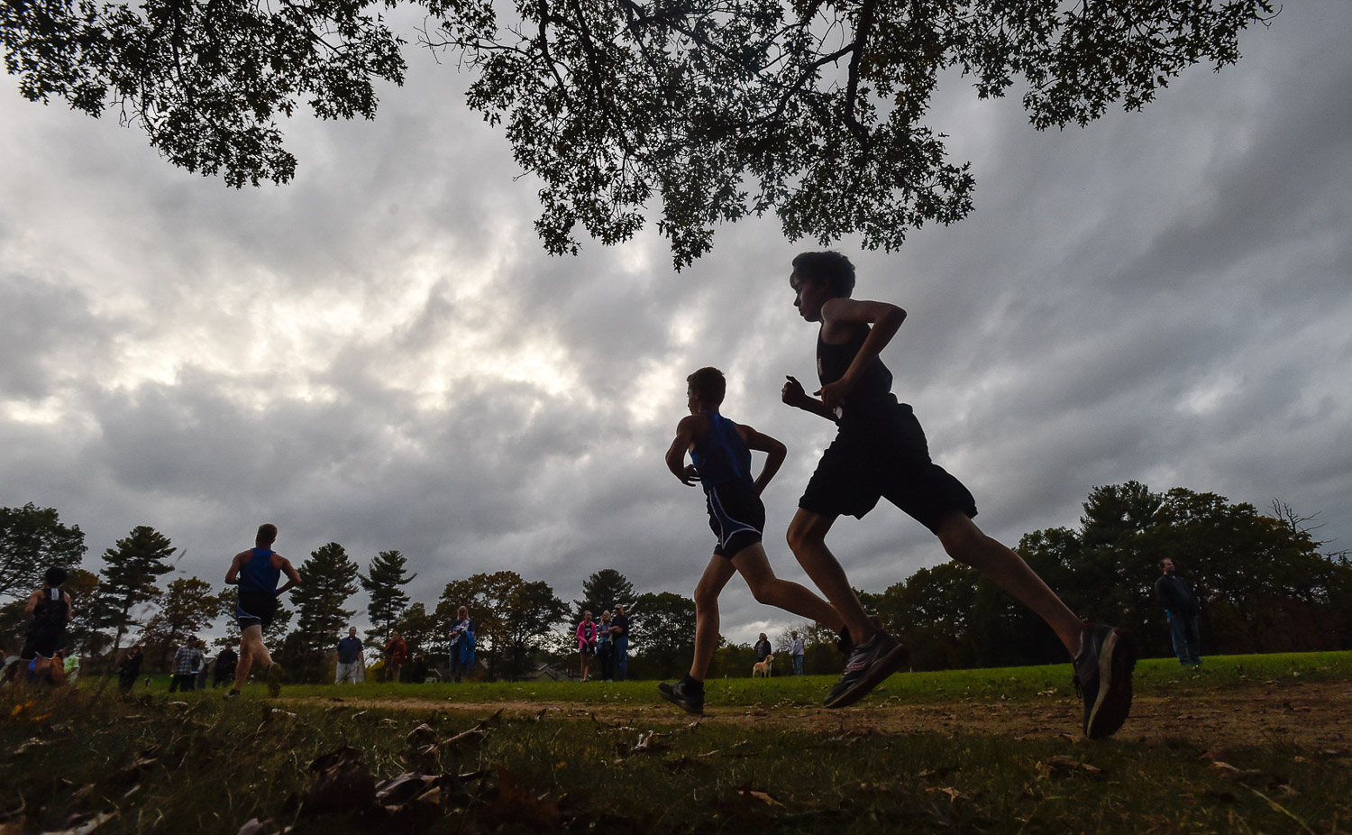 Nikon D4s, 1/1250 @ f/8, ISO 1400, 17-35mm  Georgetown and Hamilton cross country athletes compete in Hamilton during their cross country meet, Tuesday, Oct. 24, 2017.