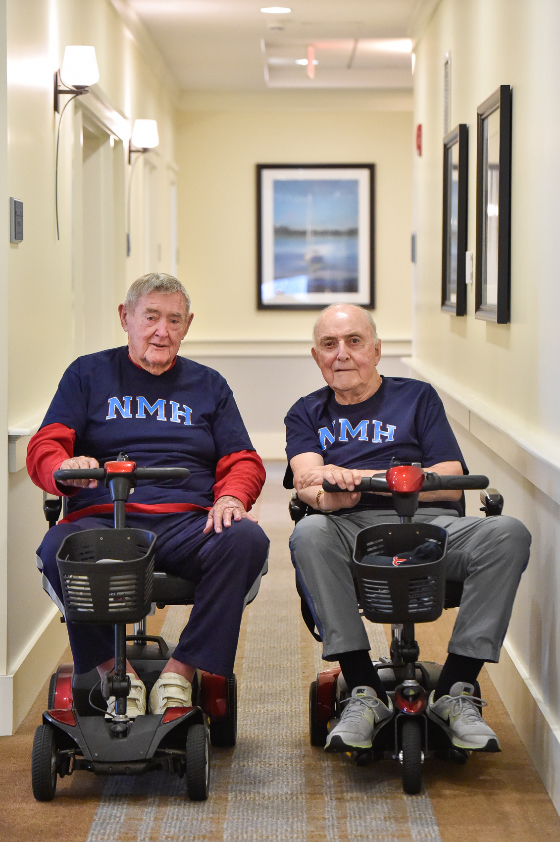 3rd Place, Portrait Photo  John Goldsberry and his longtime friend John Finlay pose for a photo supporting their former prep school, Northfield Mount Hermon in Gill, MA, inside the Residence at Riverbend. The two friends were out of touch for 70 years and have recently reunited at the residence Tuesday, Sep. 27, 2016. Wicked Local Staff Photo / David Sokol