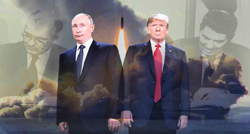 Photo illustration:  Yahoo News ; photos: AP (2), Universal History Archive/UIG via Getty Images, Russian Defense Ministry Press Service