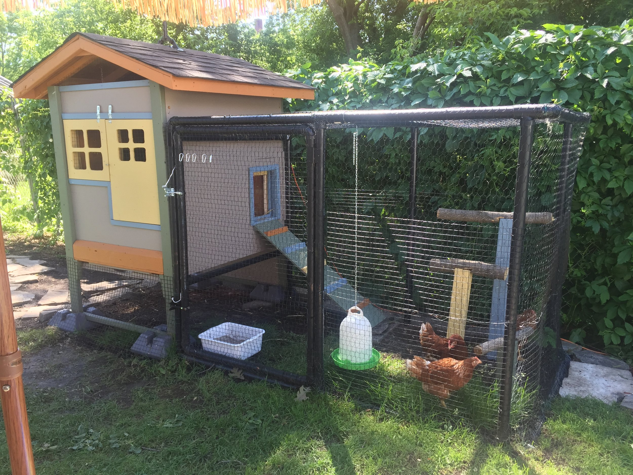 We received our automatic chicken Coop door a few days ago. The installation Was easy and we are very satisfy. Thank You, Mario Hamel Québec Canada