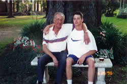 Justin and his grandfather