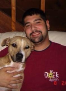 Matthew and his dog