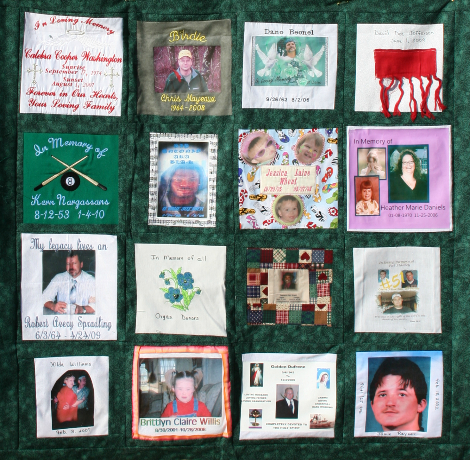 Donor memorial quilt 7